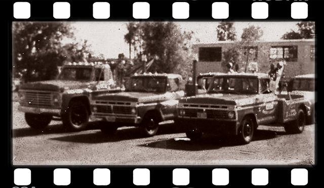 Old tow trucks